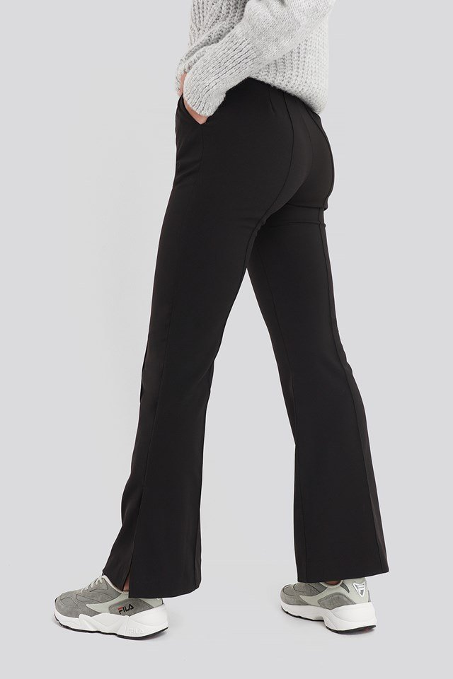 Seamline Suit Pants Black