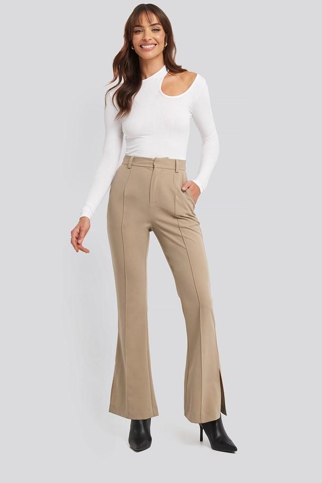 Seamline Suit Pants Beige