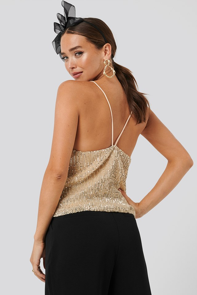 Sequin Singlet Gold