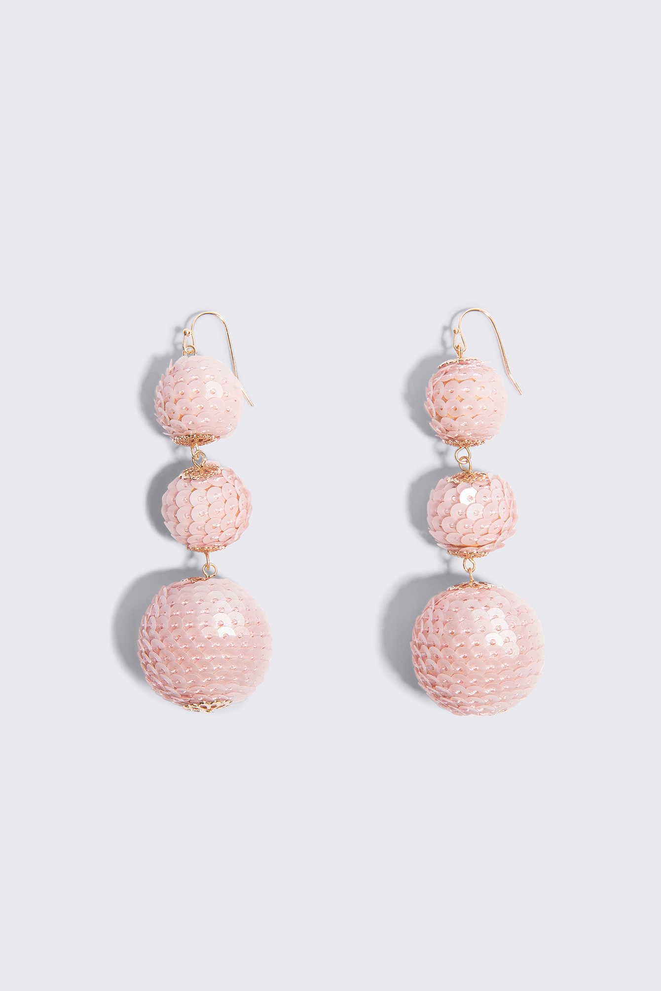 Sequin Triple Globe Drop Earrings NA-KD.COM