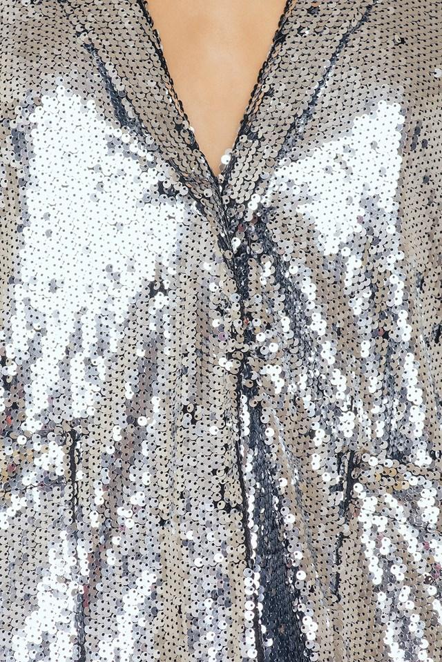 Sequins Blazer Silver