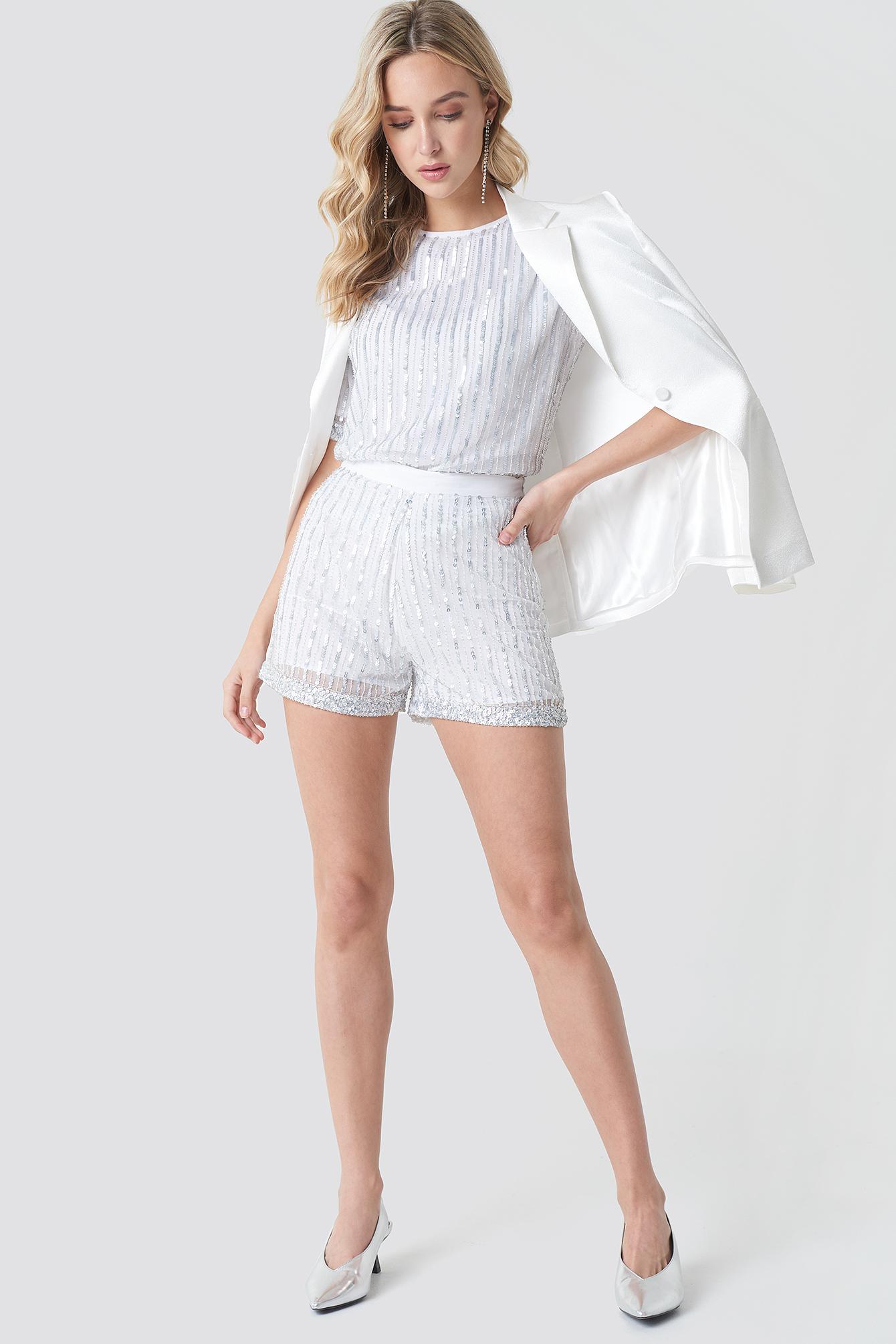 NA-KD Sequins Shorts Jeu Geniue Stockiste V2TayG2kN
