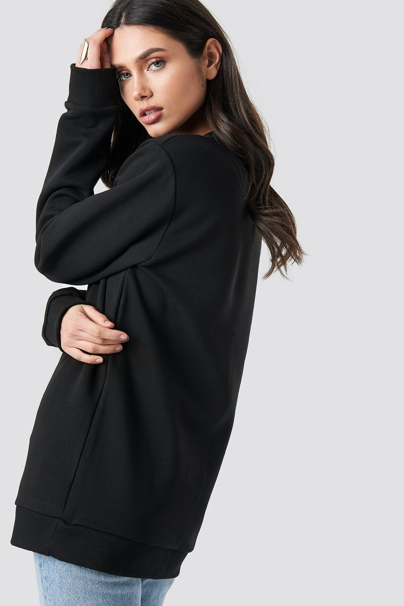 Sexual Oversized Long Sweater NA-KD.COM
