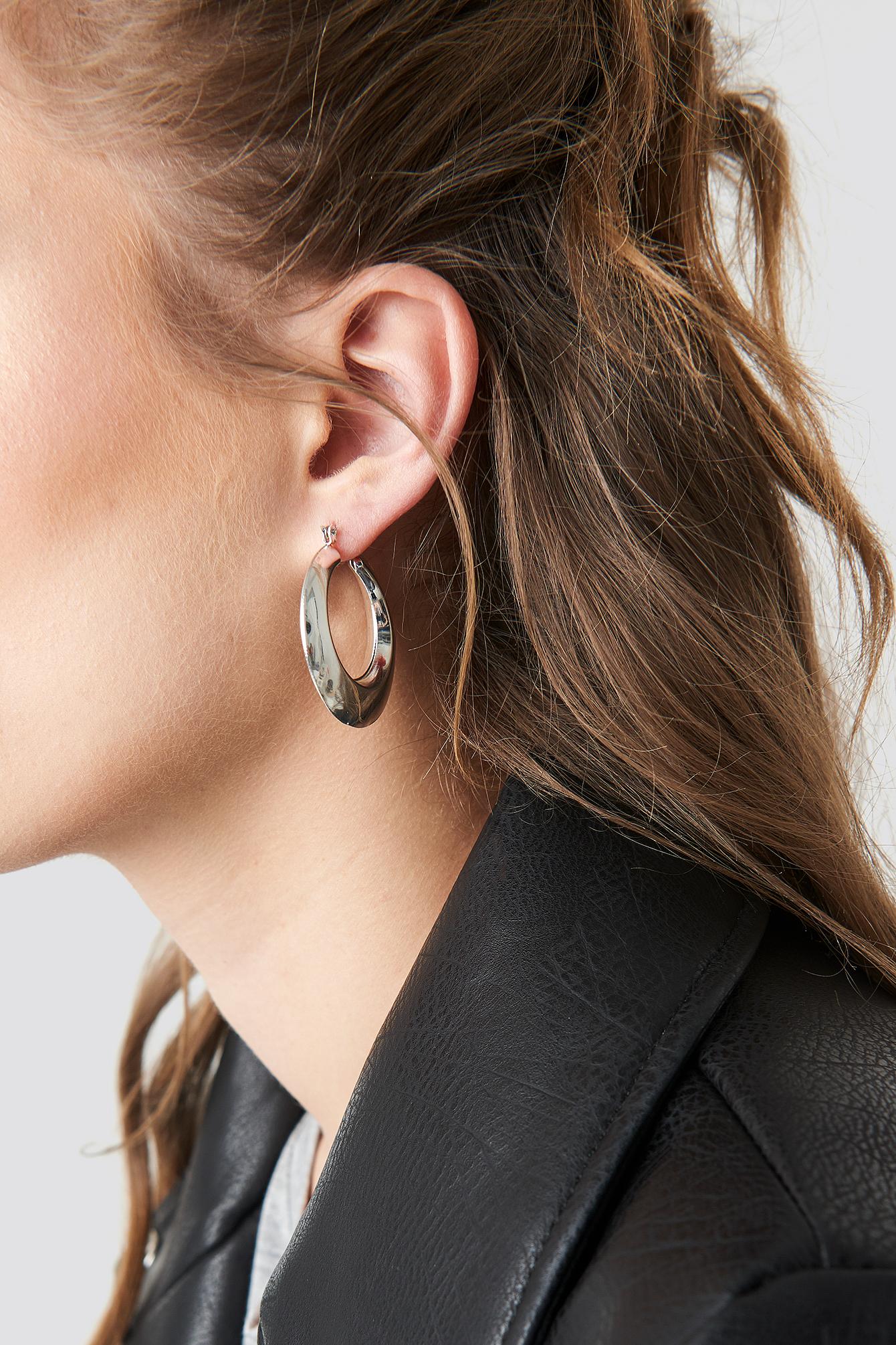 Sharp Edge Hoop Earrings NA-KD.COM