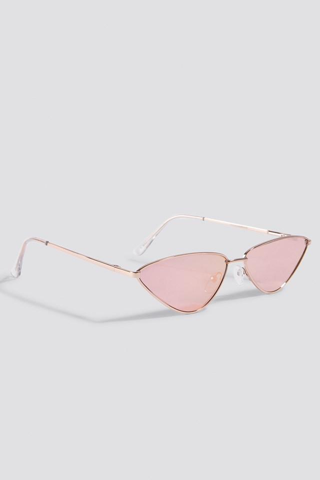 Sharp Edge Metal Sunglasses NA-KD.COM