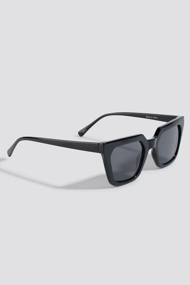 Sharp Edge Square Sunglasses Black