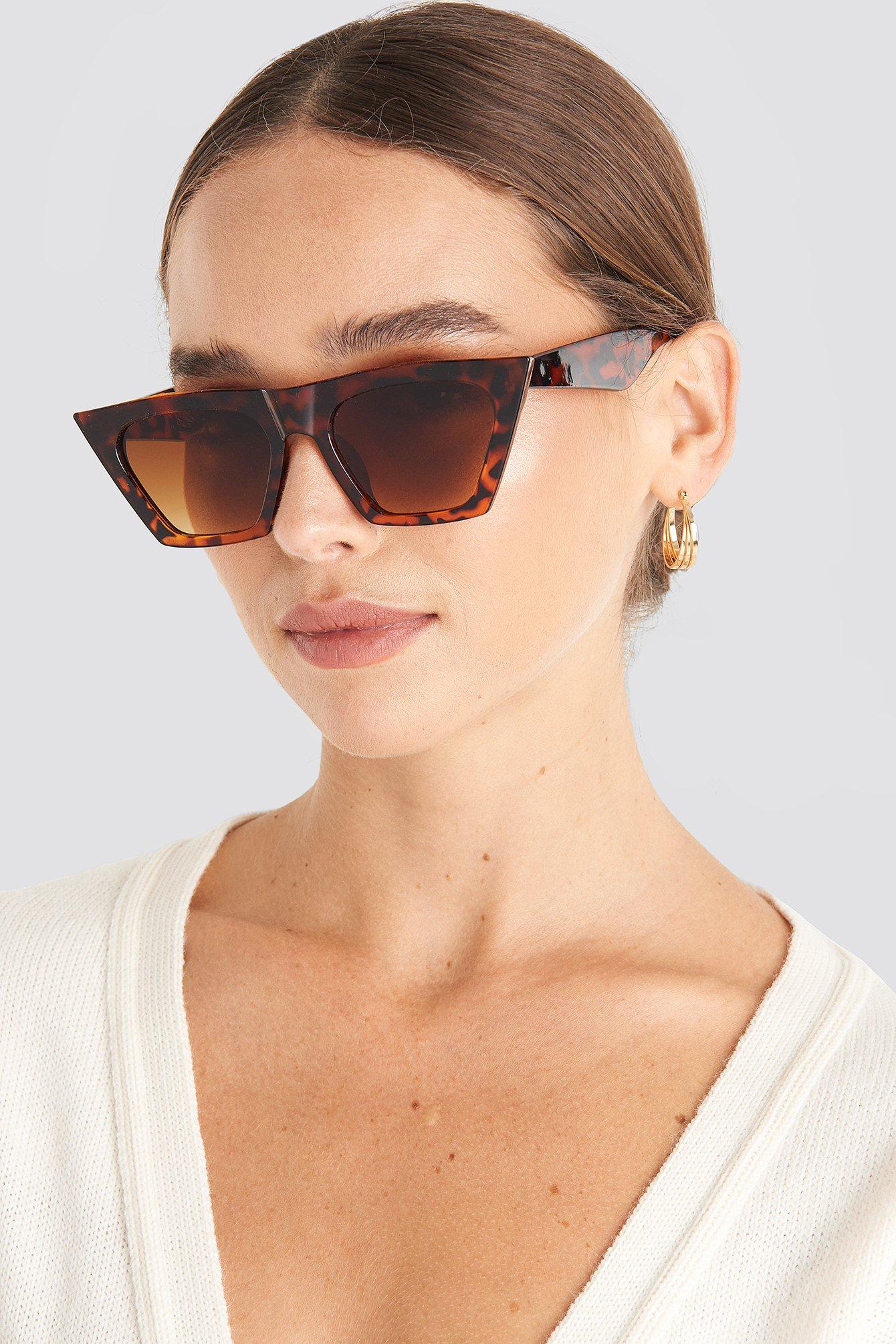 Sharp Square Cateye Sunglasses