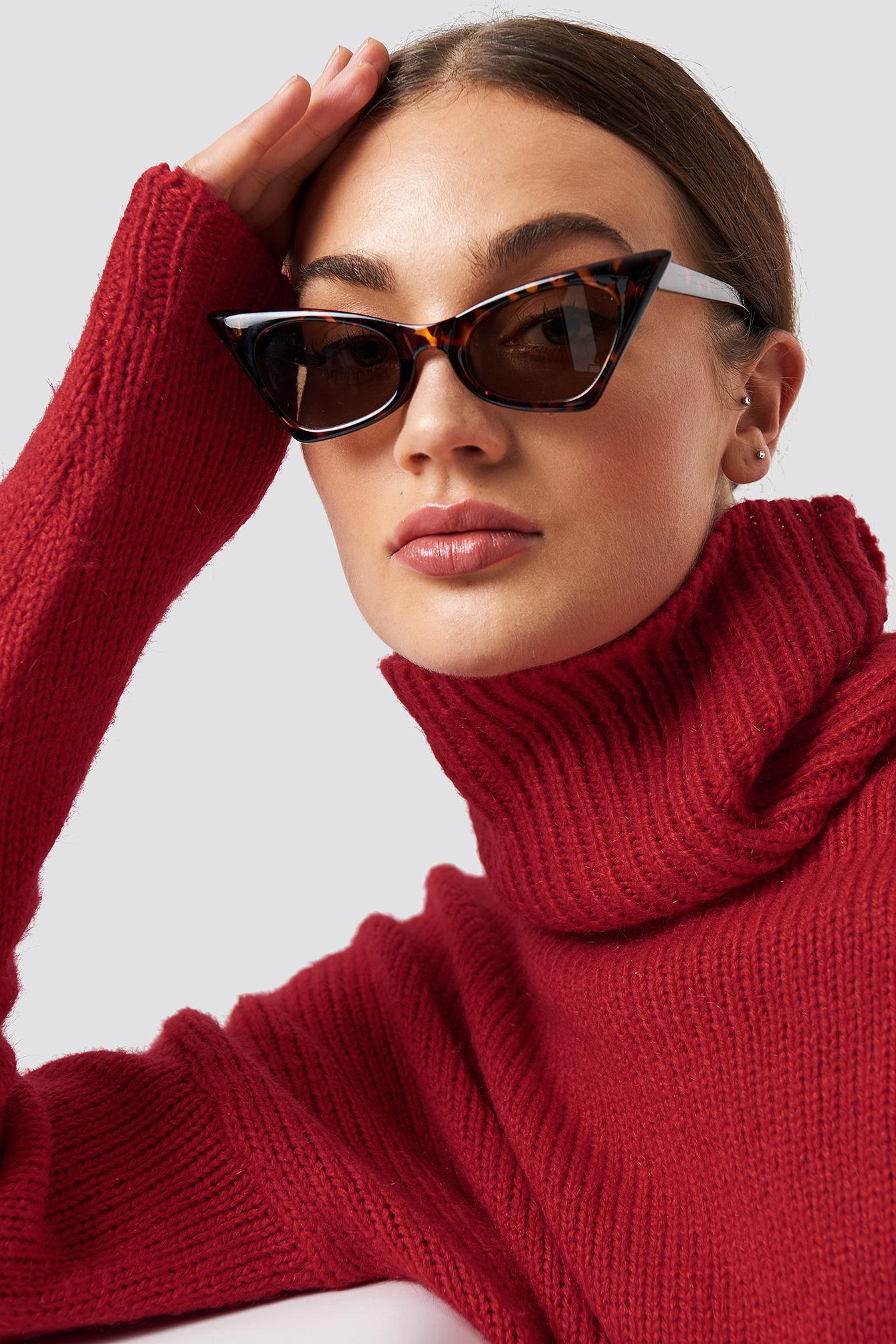 Sharp Top Cat Eye Sunglasses NA-KD.COM