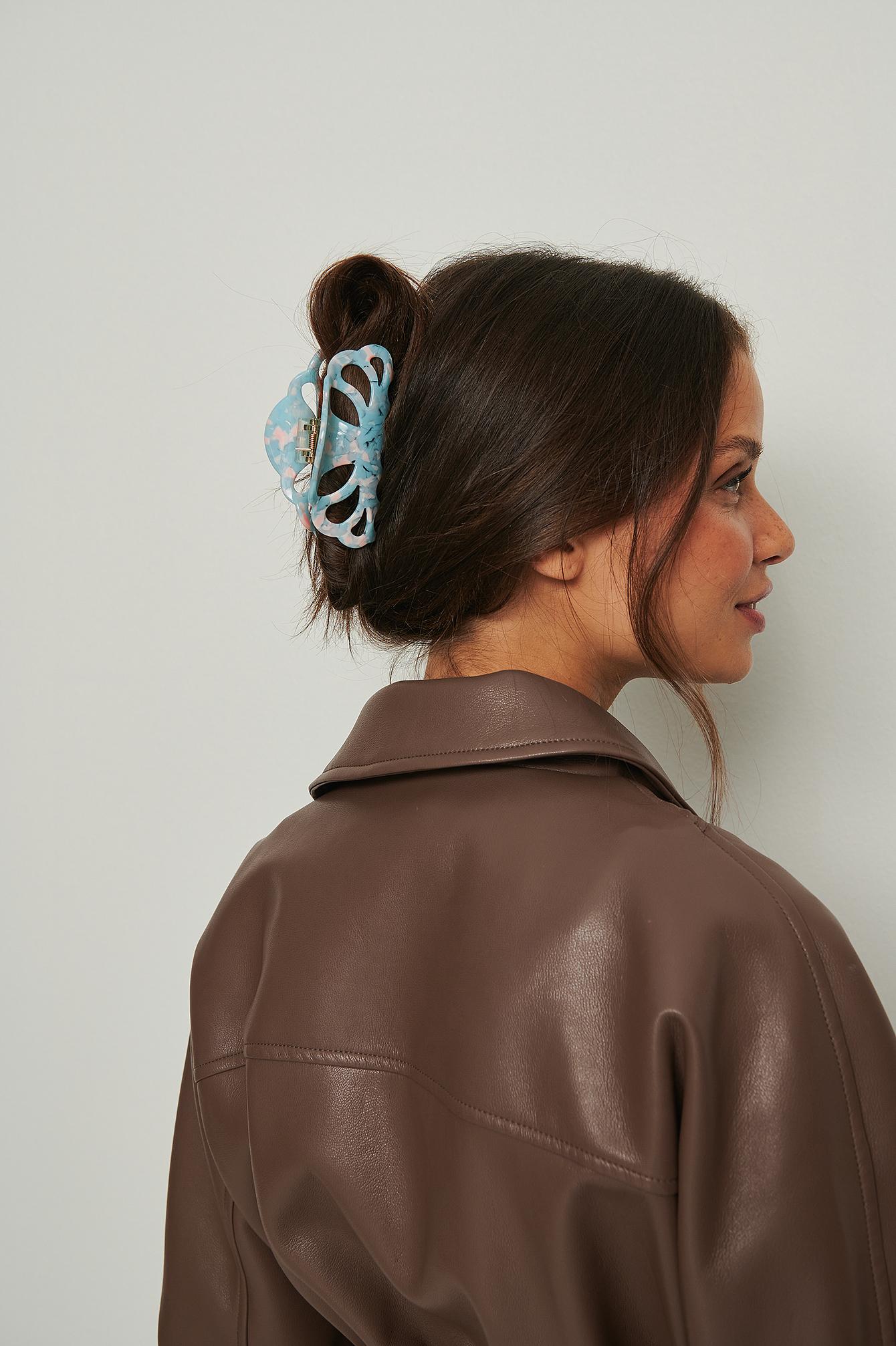 na-kd accessories -  Muschelhaarspange - Blue