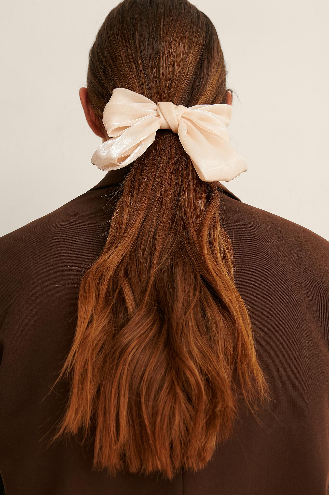 na-kd accessories -  Glänzender Haarreif - Offwhite