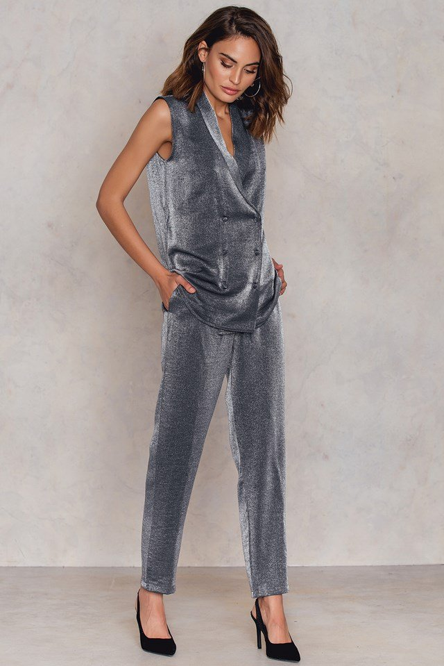 Shimmery Pants Silver