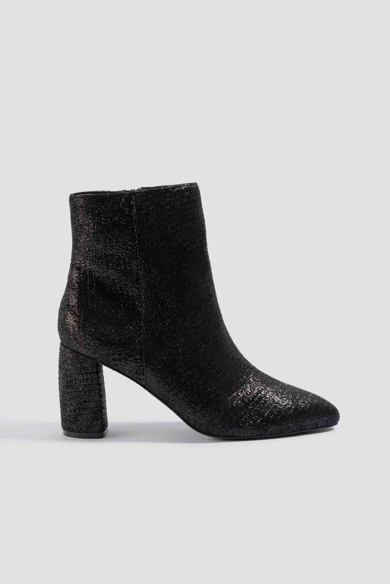 Shimmery Structured Boots NA-KD.COM