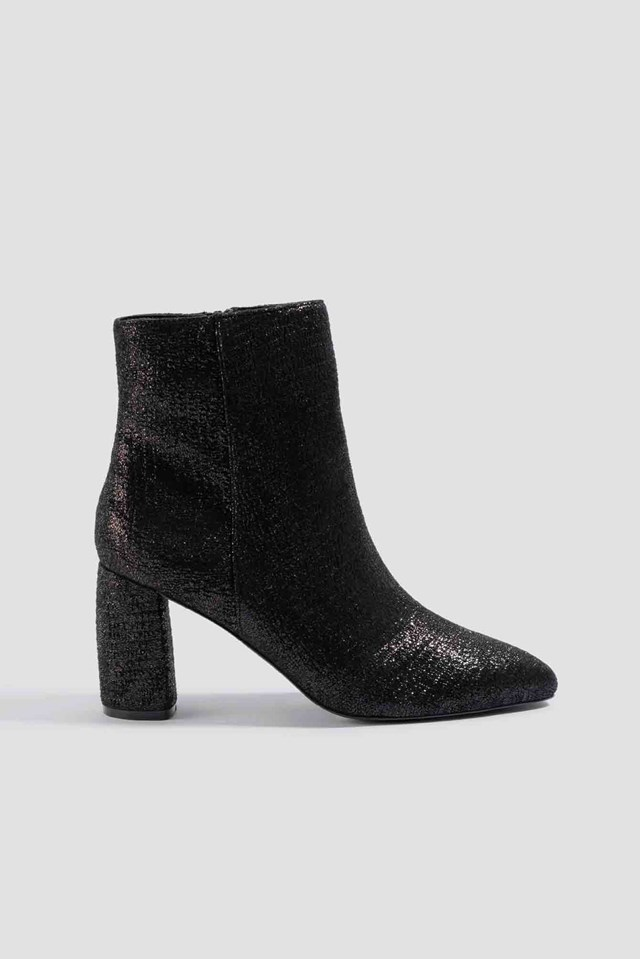 Shimmery Structured Boots NA-KD Shoes