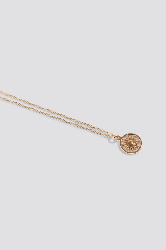 Shining Sun Necklace Gold