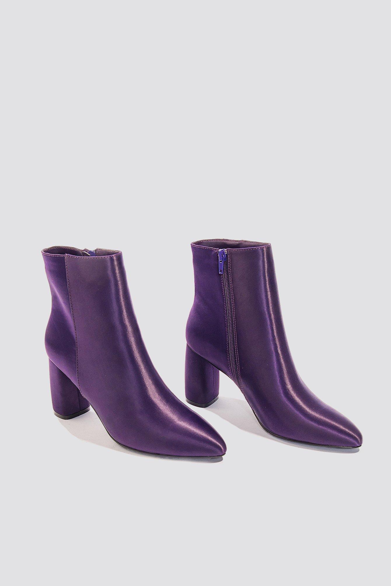 NA-KD Shiny Ankle Boots LBqxwSivM