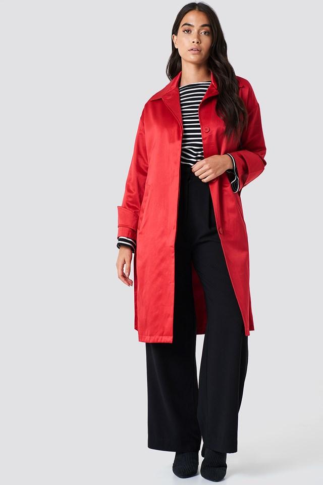 Błyszczący płaszcz Red