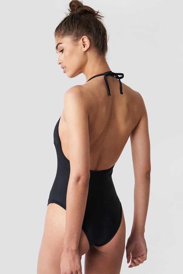Cut Out Halterneck Swimsuit NA-KD.COM
