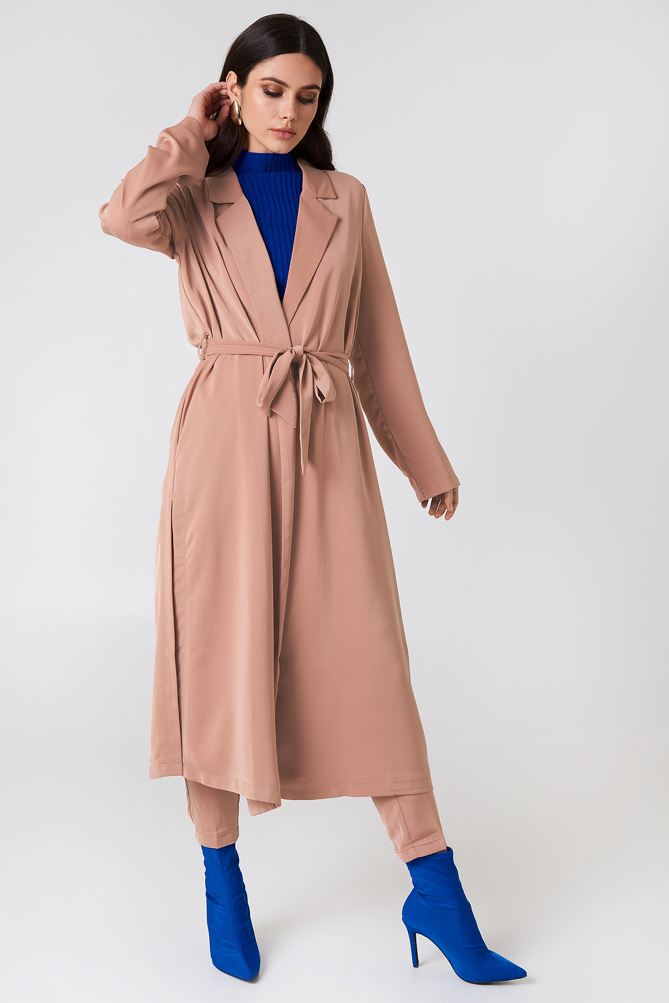 Shiny Fluid Trenchcoat NA-KD.COM