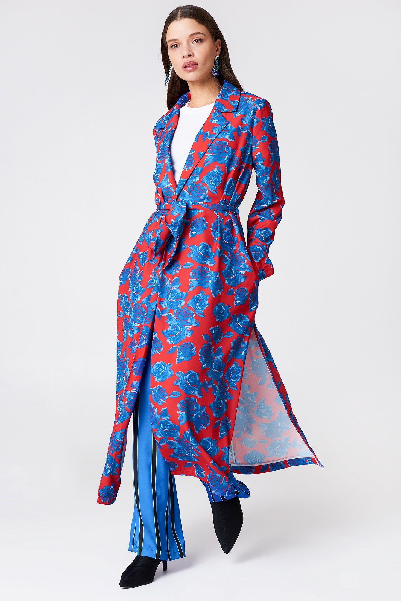 na-kd exclusive -  Shiny Fluid Trenchcoat - Multicolor