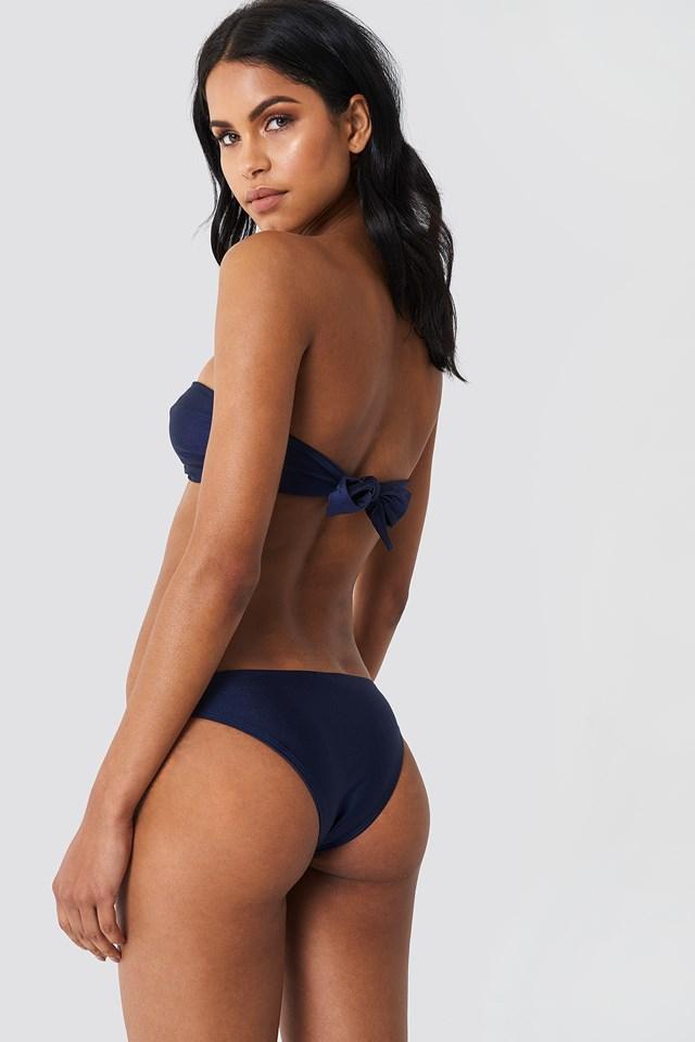 Shiny Metal Detail Bandeau Bikini NA-KD.COM