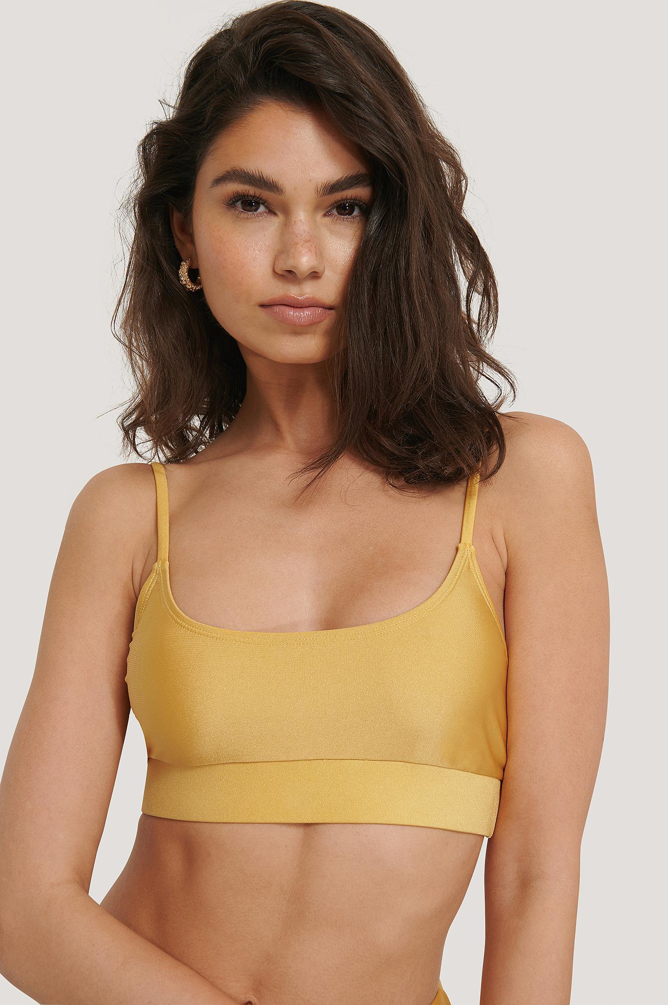 NA-KD Swimwear Sporty Bikinitop - Yellow