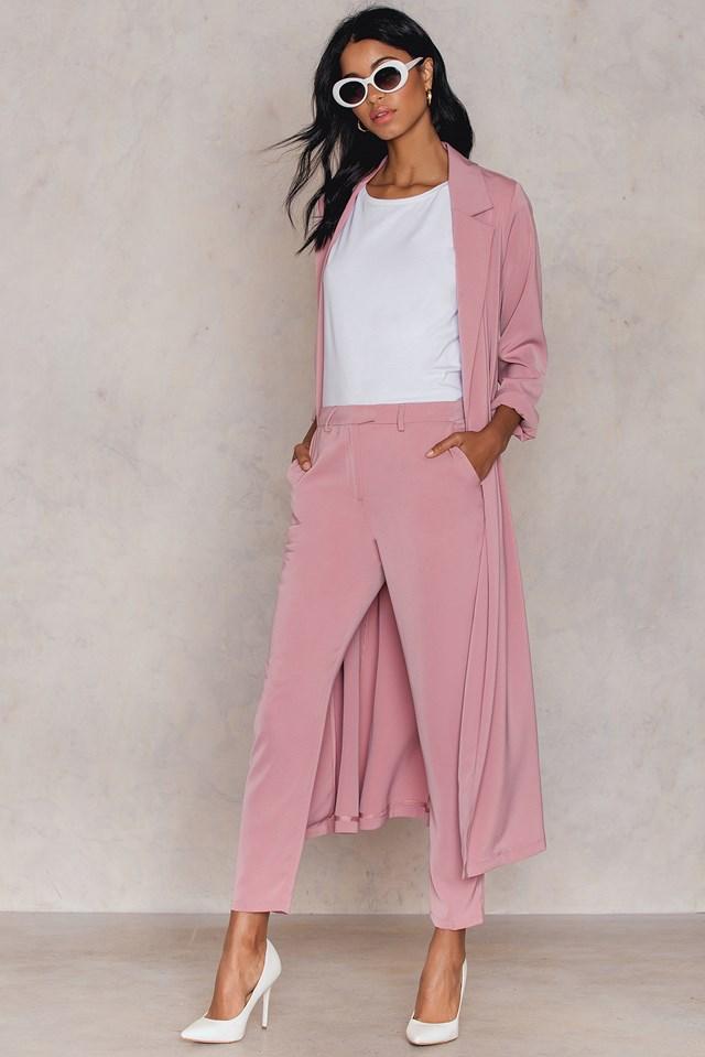 Shiny Suit Pants Dusty Pink