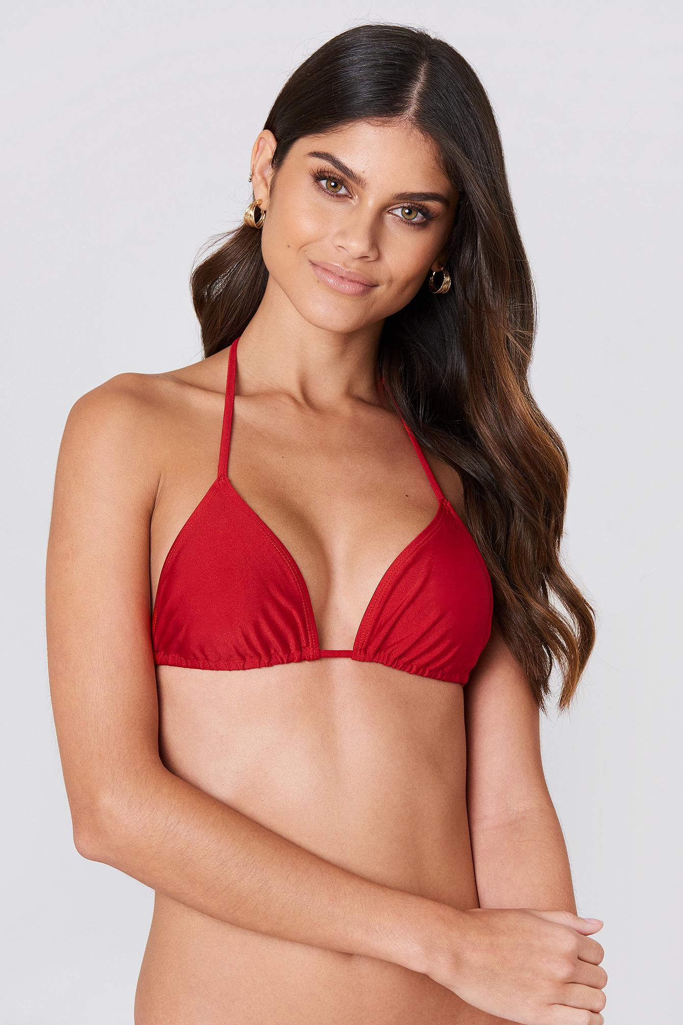 Shiny Triangle Bikini Top NA-KD.COM