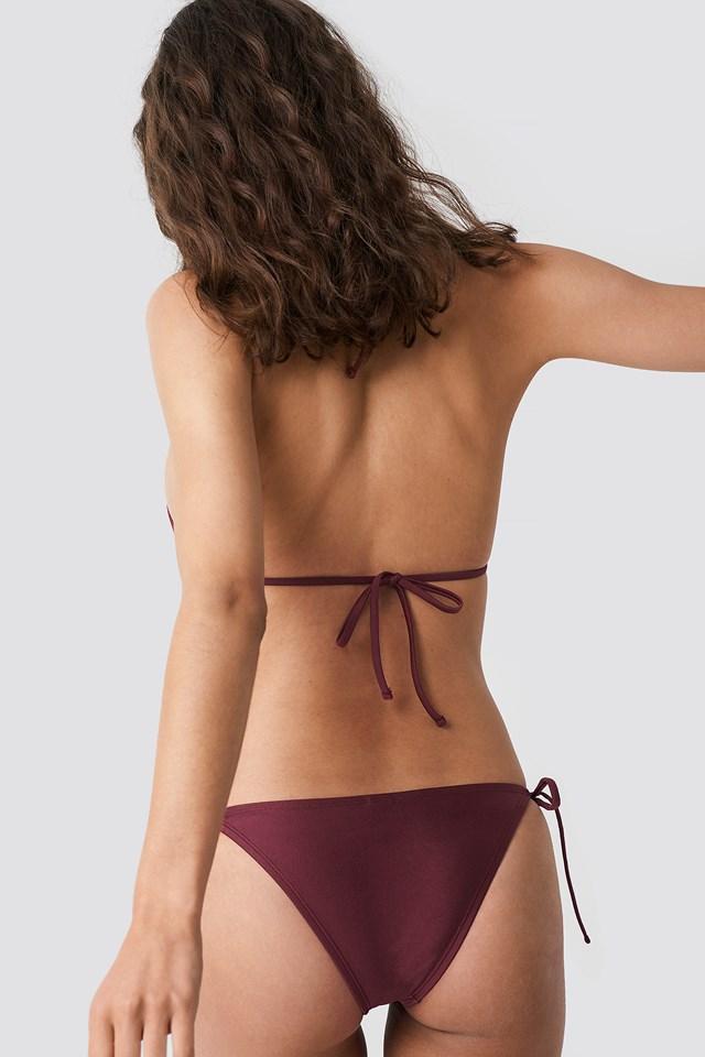 Shiny Triangle Panty Burgundy