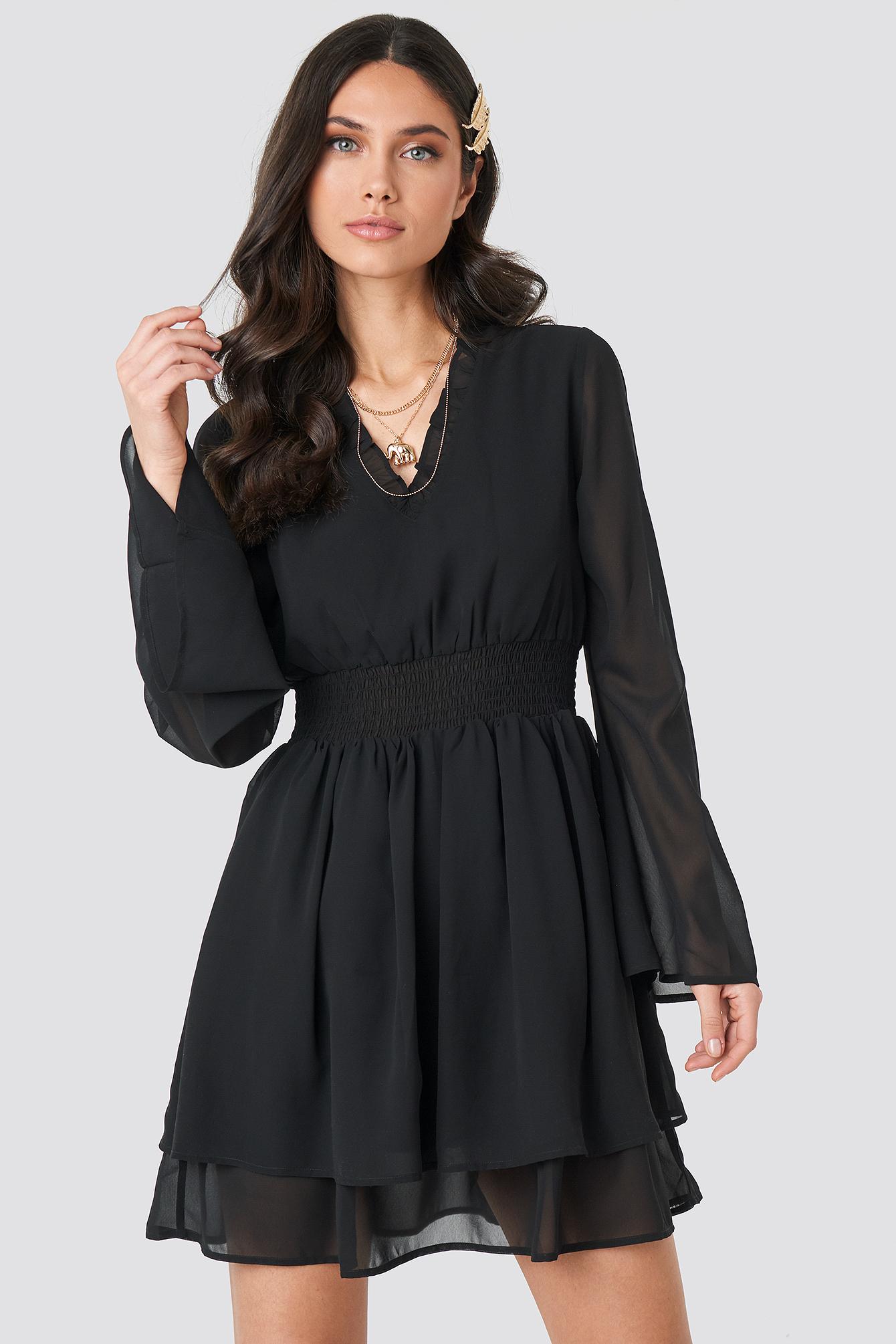 Shirred Waist Detail Dress