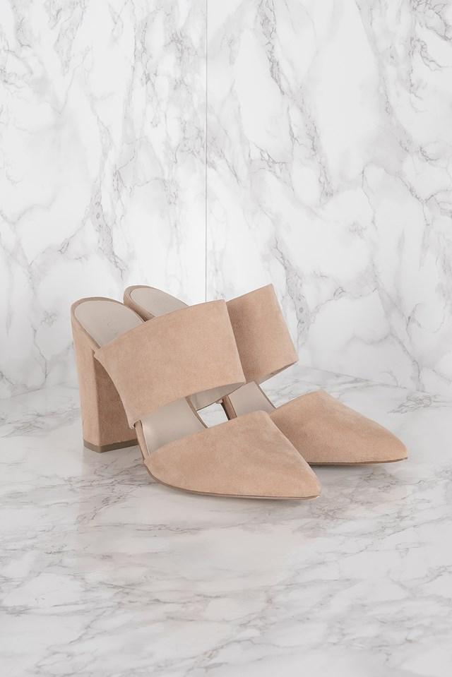 Slip In Cut Out Heel Light Pink