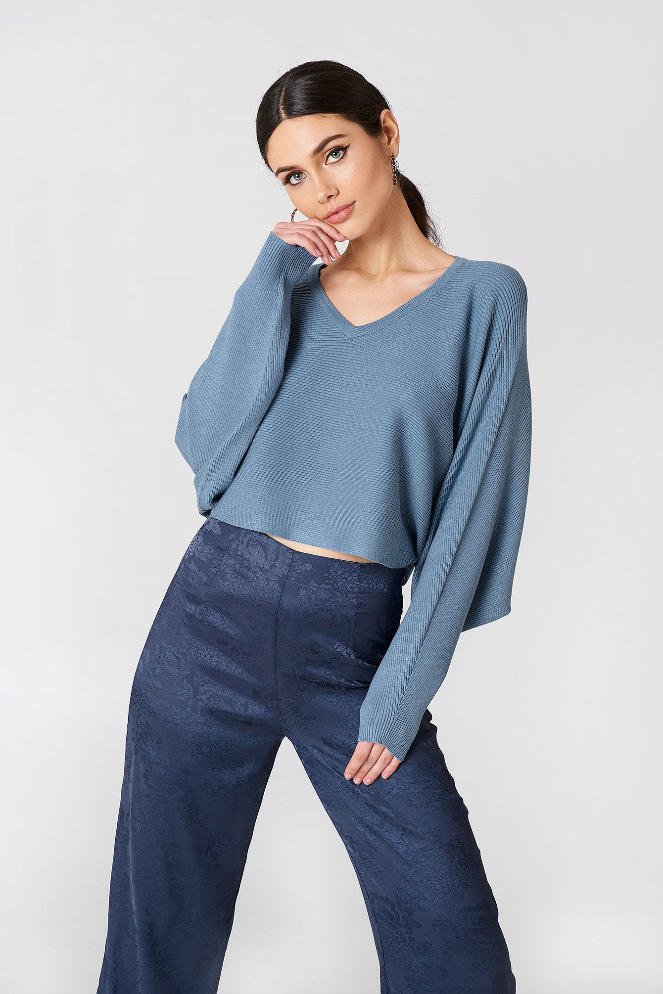 Short Batwing Sweater