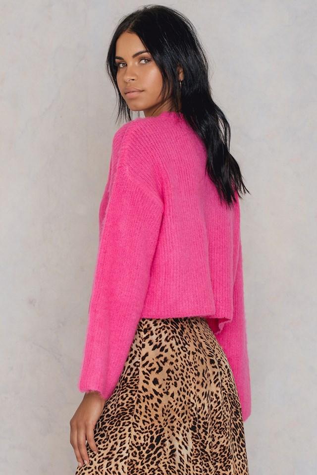 Short Brush Sweater Pink
