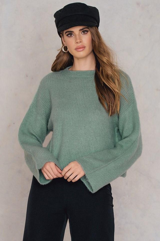 Short Brush Sweater Duck Green