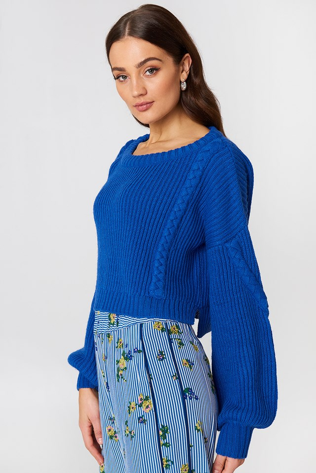 Short Cable Knitted Sweater NA-KD