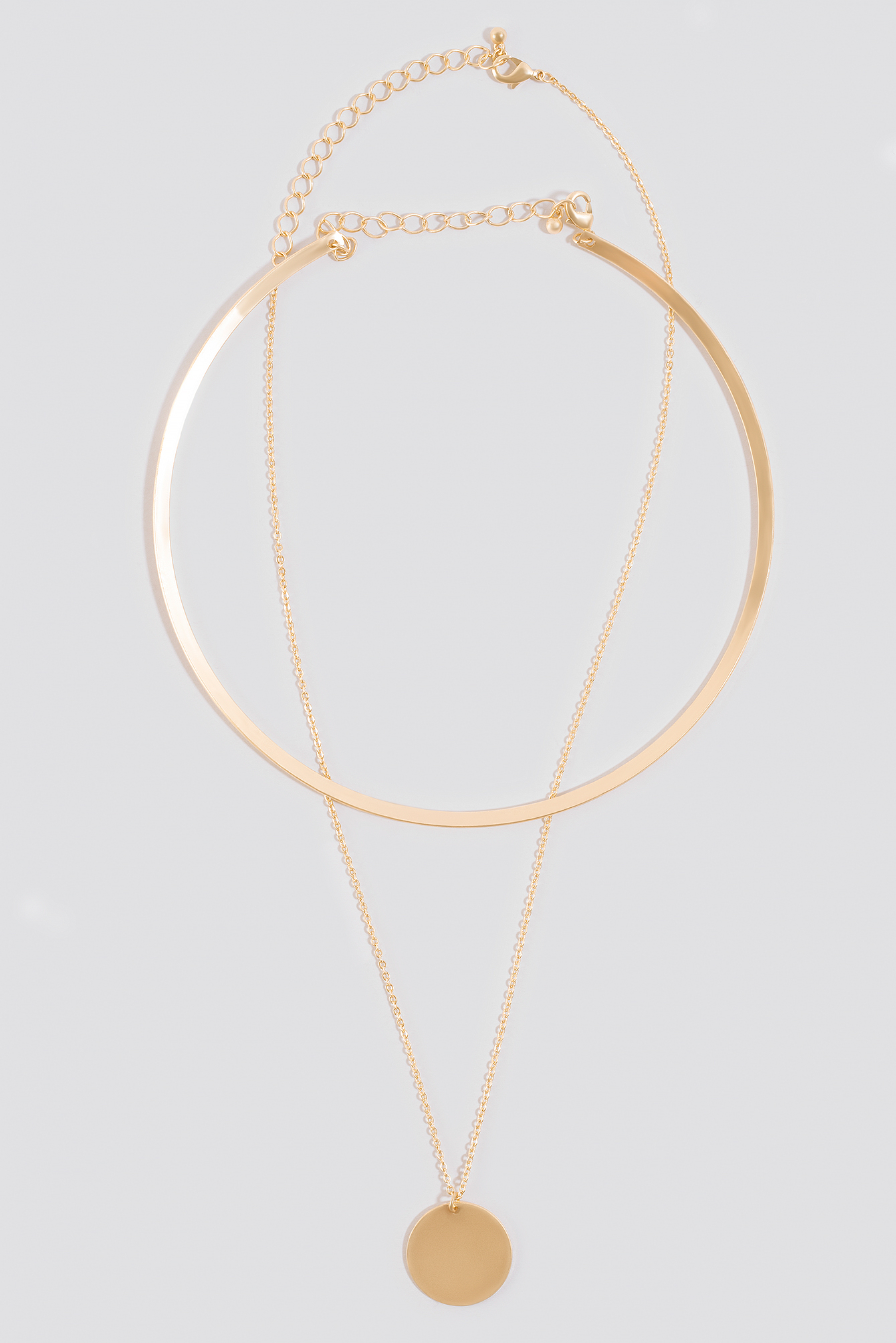Short Collar And Plat Necklace NA-KD.COM