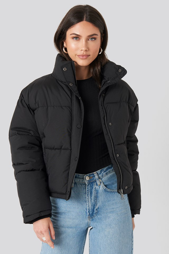 Short Padded Jacket Black