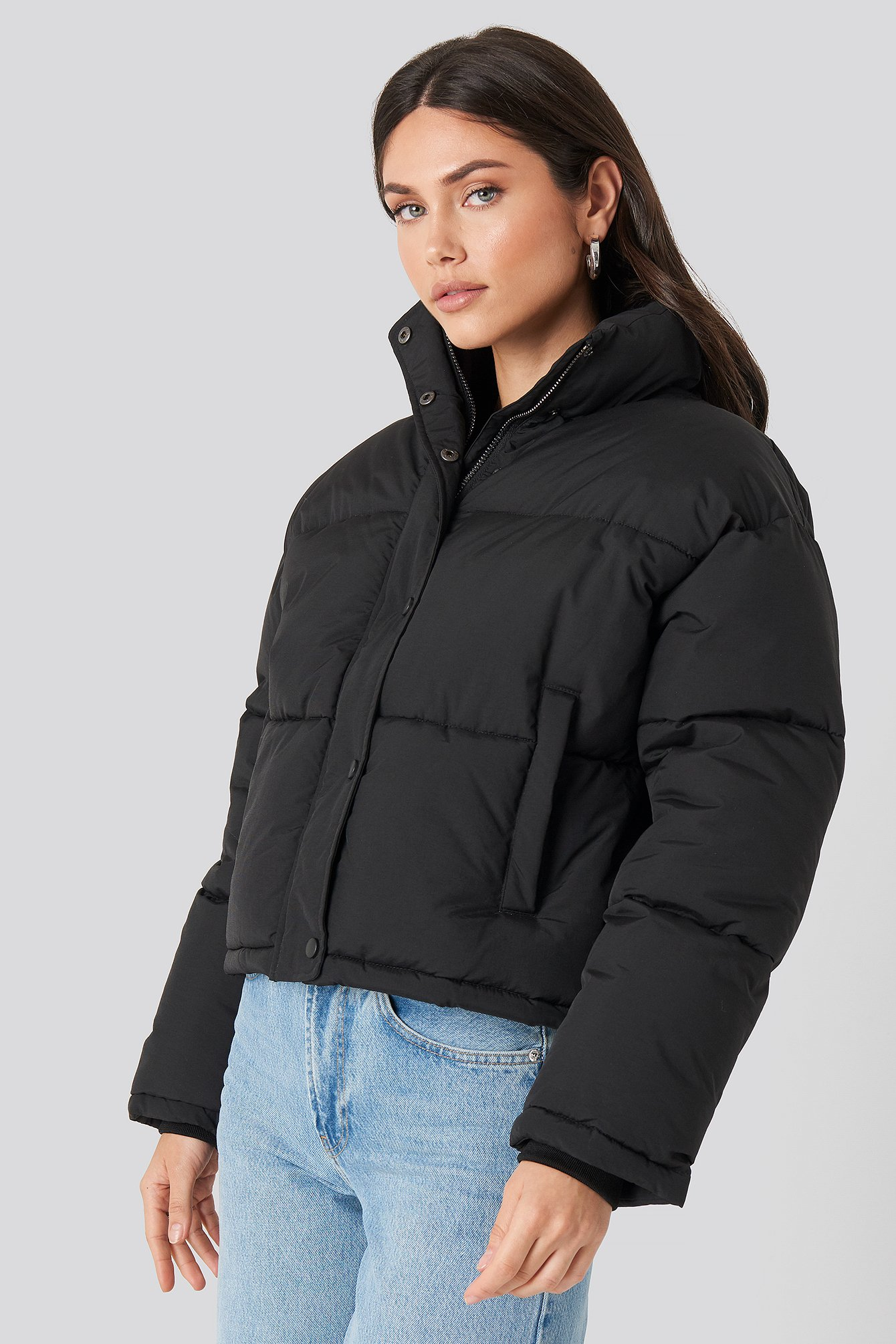 na-kd -  Short Padded Jacket - Black