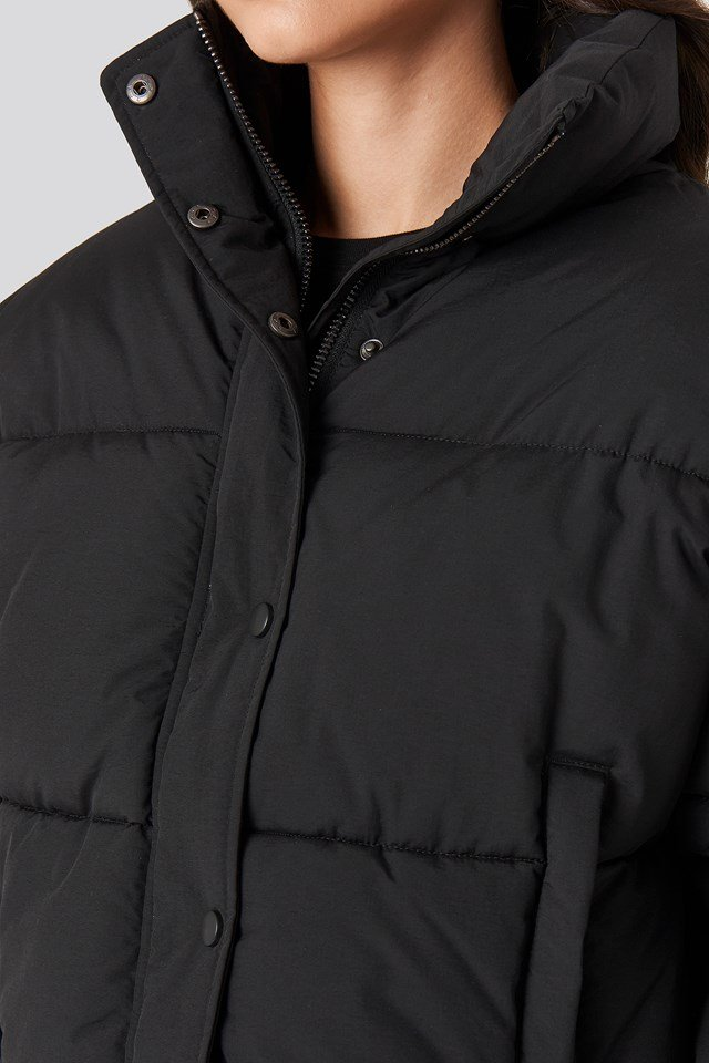 Krótka kurtka watowana Black