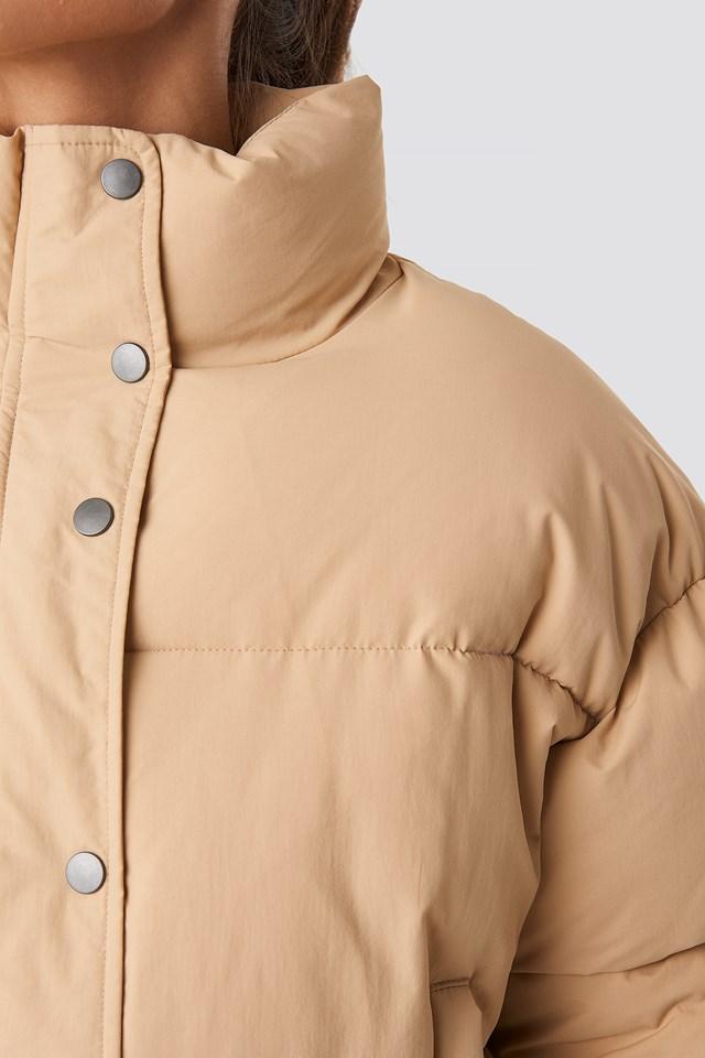 Short Padded Jacket Beige