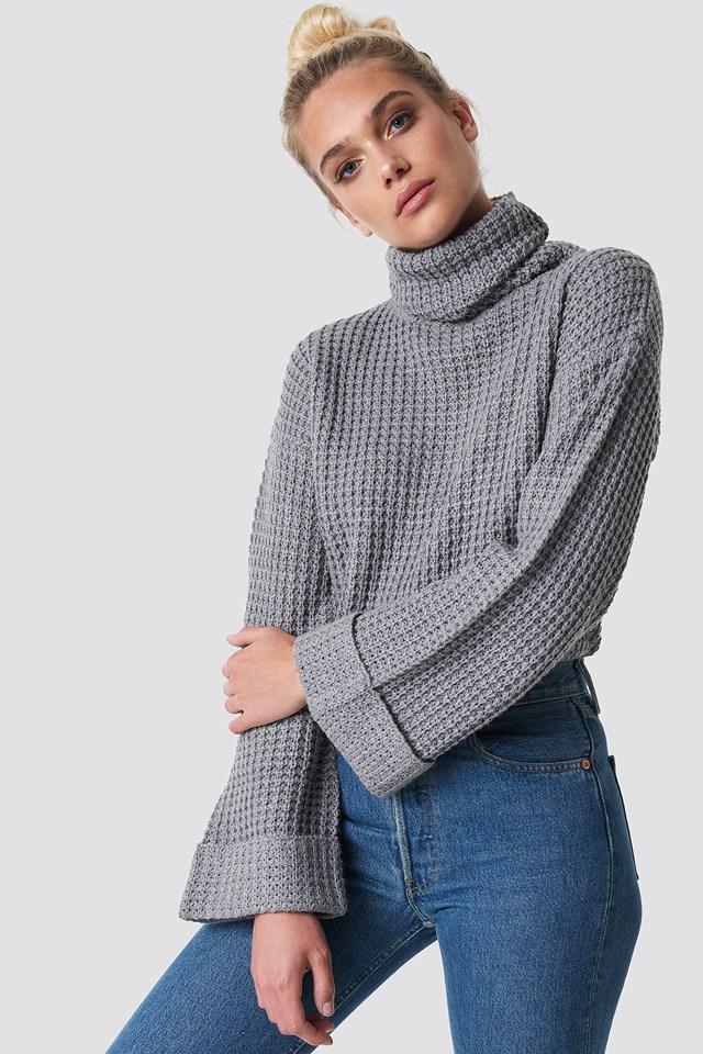 Krótki sweter Grey