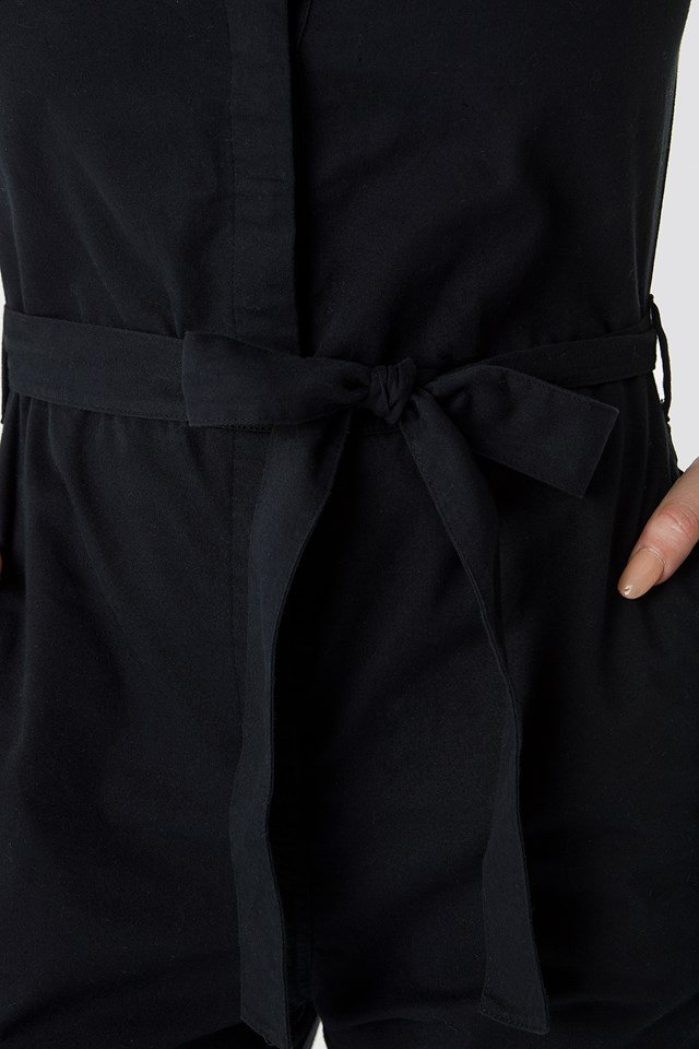 Short Sleeve Button Up Jumpsuit NA-KD.COM