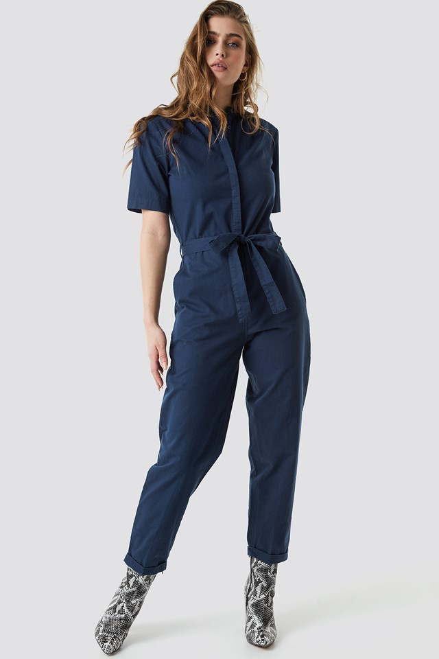 Short Sleeve Button Up Jumpsuit NA-KD.COM