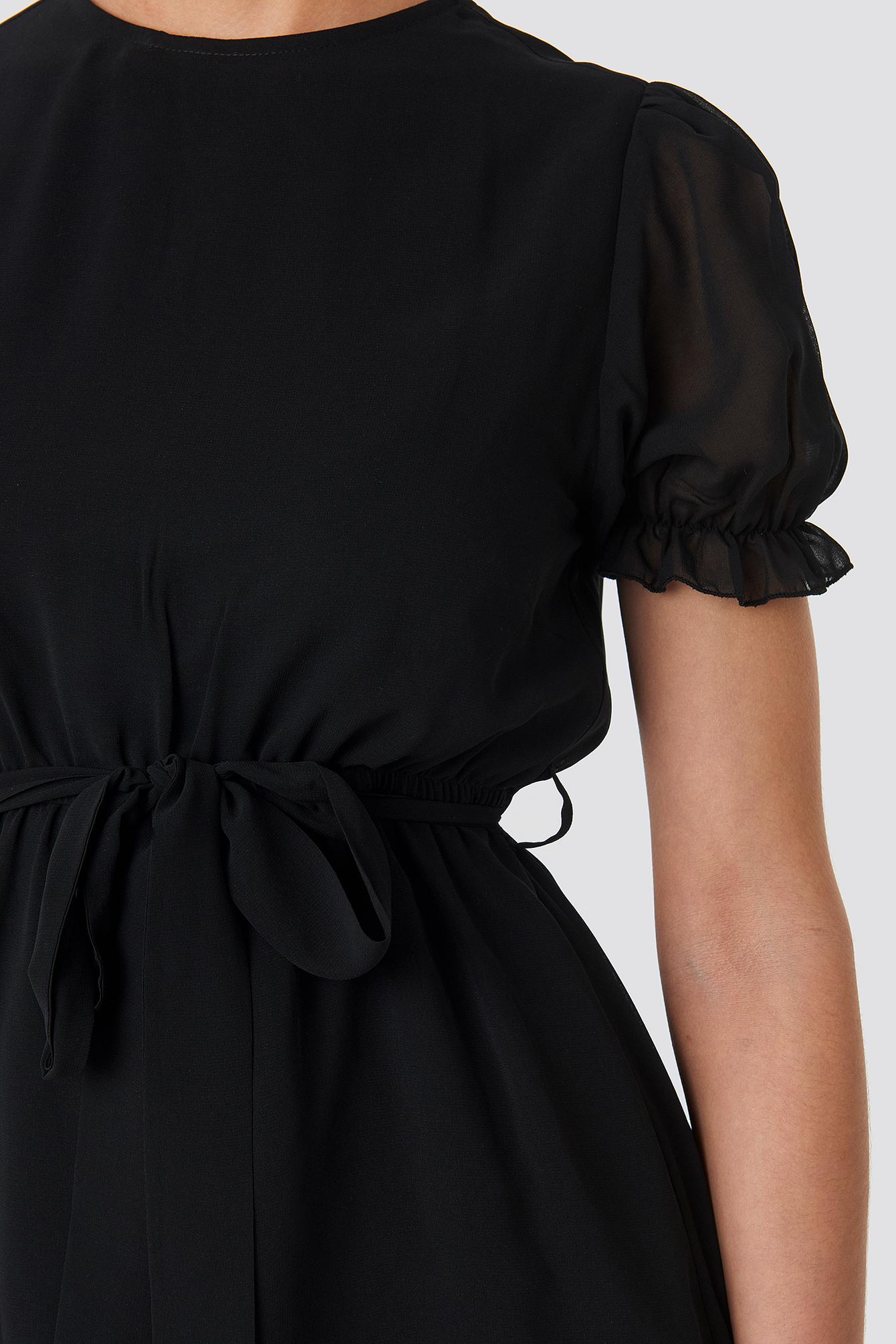 Short Sleeve Chiffon Dress NA-KD.COM