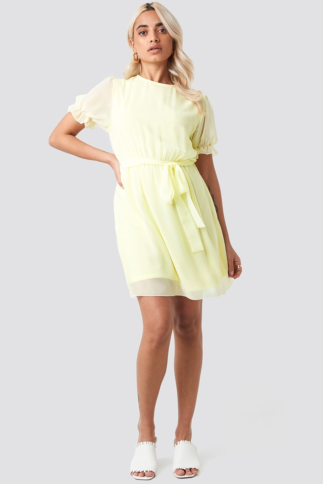 Short Sleeve Chiffon Dress NA-KD.COM