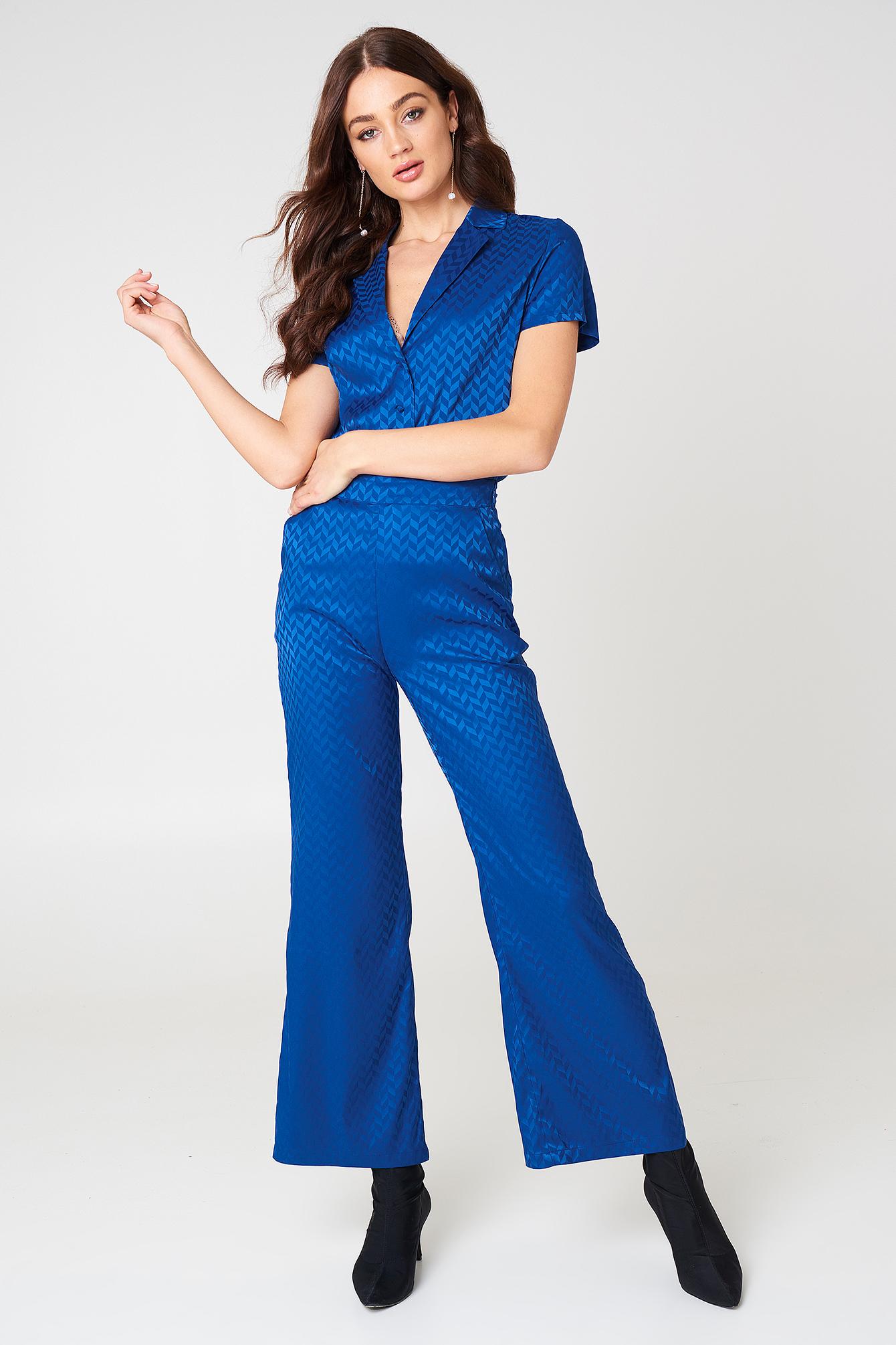 Short Sleeve Jacquard Shirt NA-KD.COM