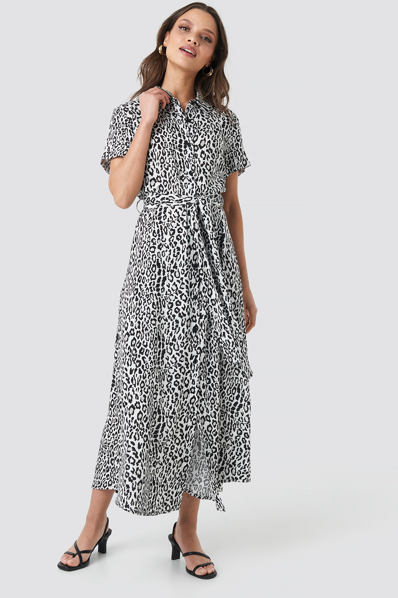 Short Sleeve Maxi Dress NA-KD.COM