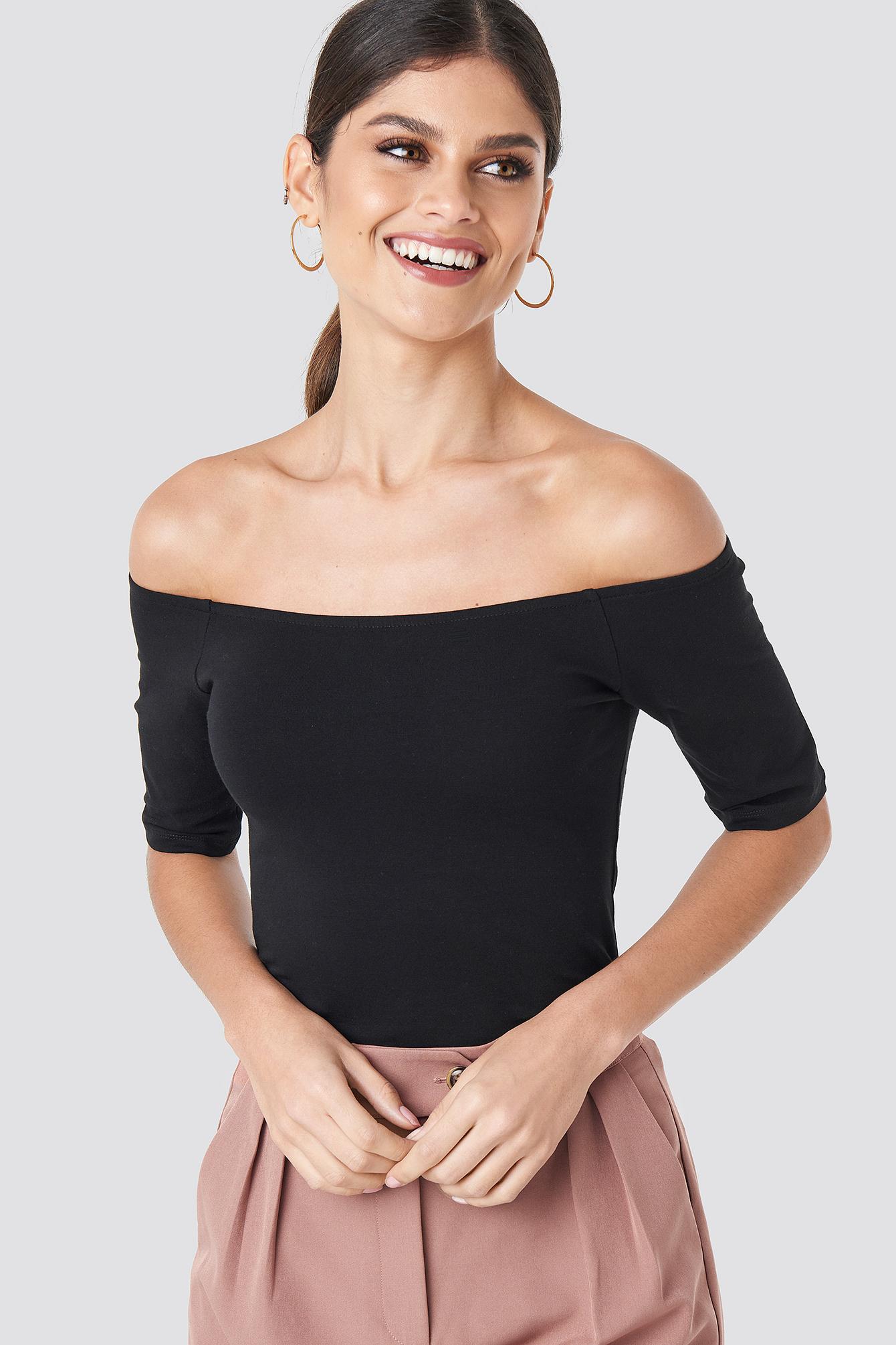 Short Sleeve Off Shoulder Top NA-KD.COM