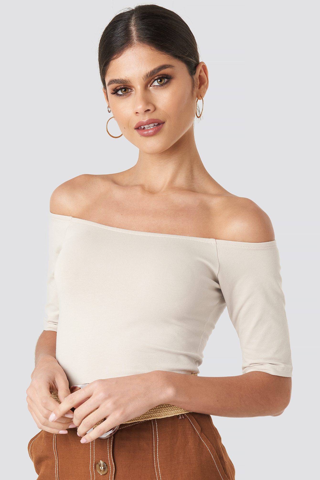 Short Sleeve Off Shoulder Top NA-KD.COM