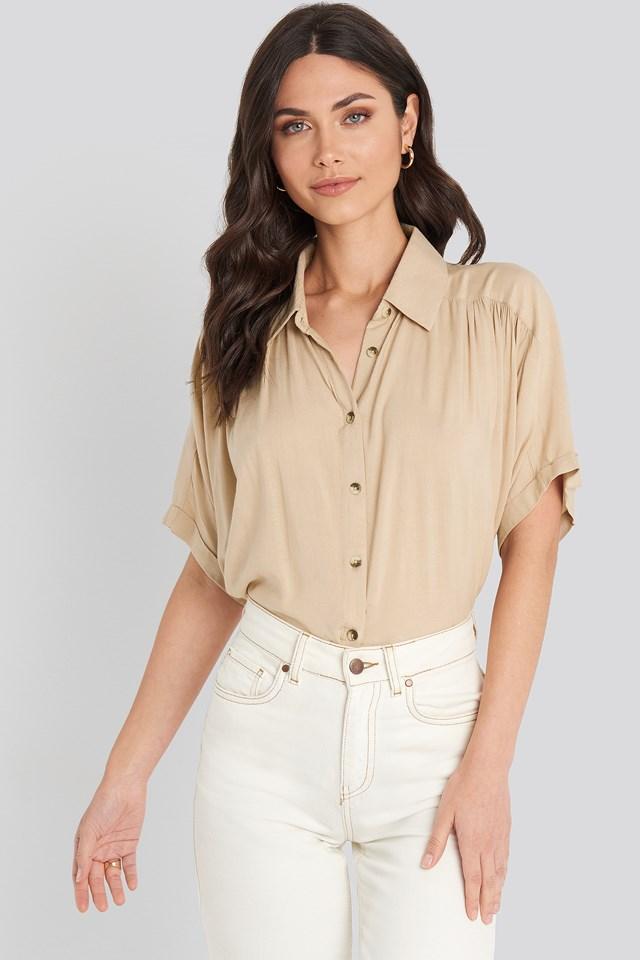 Short Sleeve Shirt Beige