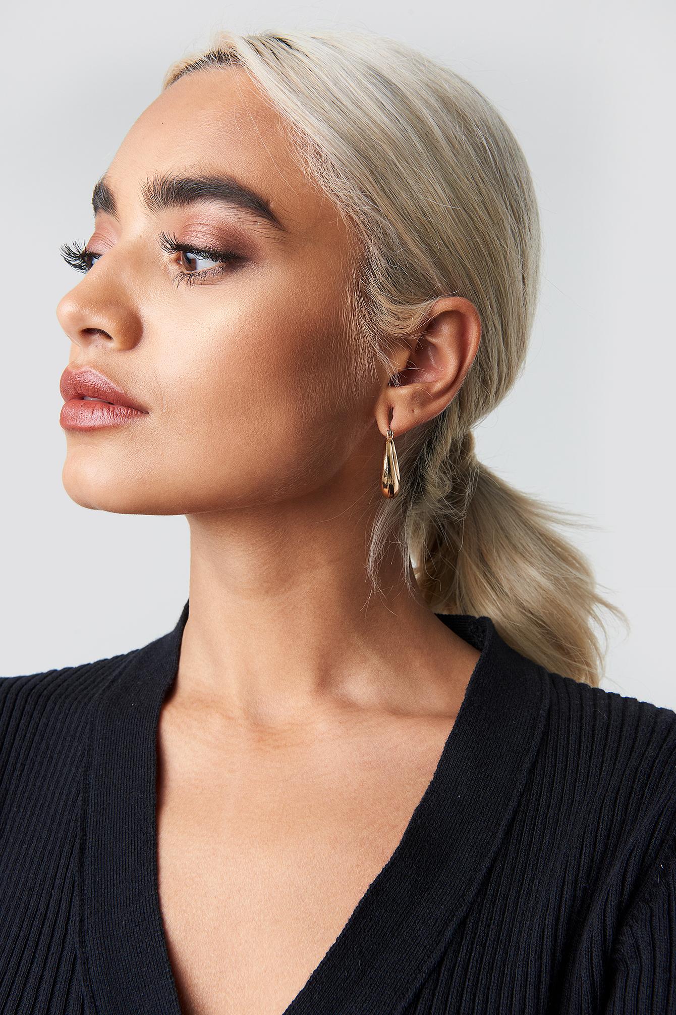 Short Thick Oval Earrings NA-KD.COM